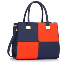Kabelka Blue / Orange Fashion Tote Handbag