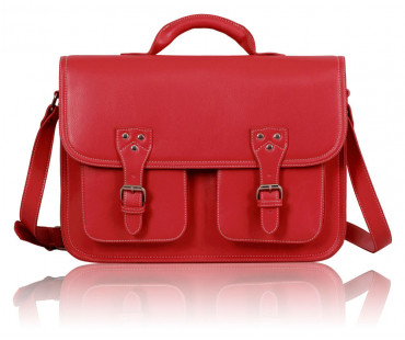 Aktovka Fuchsia Double Pocket Old School Satchel