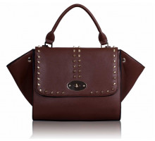 Kabelka Studded Purple Flap Satchel