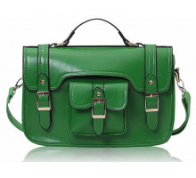 Aktovka Green Classic Buckle Satchel