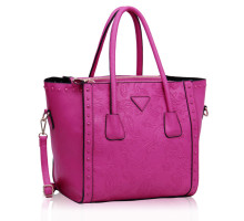 Kabelka Fuchsia Tote Bag With Studs Decoration