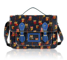 Aktovka  Navy Owl Design Satchel
