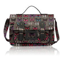 Aktovka Grey butterfly Design Satchel