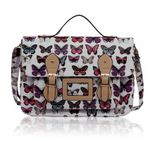 Aktovka White butterfly Design Satchel