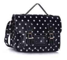 Aktovka Black Spotty Polka Dot Satchel Handbag