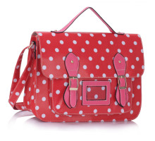 Aktovka Pink Spotty Polka Dot Satchel Handbag