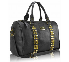 Kabelka Grey Stunning  Studded Barrel Bag With Long Strap