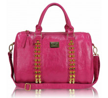 Kabelka Pink Stunning Studded Barrel Bag With Long Strap