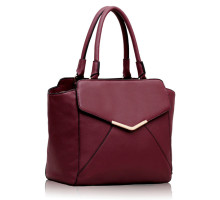 Kabelka Purple Metal Frame Satchel