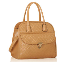 Kabelka Nude Satchel With Big Pocket on The Front