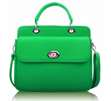 Aktovka Green Tote With Large Twist Lock Front Pocket
