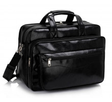 Aktovka Unisex Black Laptop Office Bag