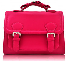 Aktovka Classic Fuchsia Buckle Detail Fashion Satchel