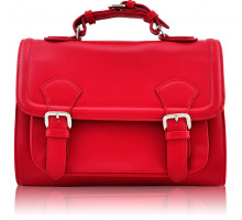 Aktovka Classic Red  Buckle Detail Fashion Satchel