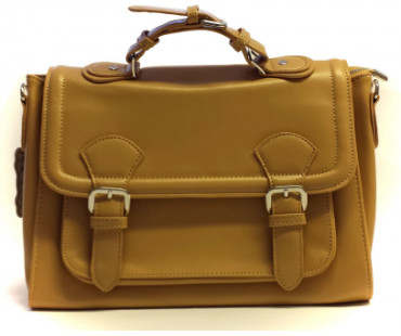 Aktovka Classic Nude Buckle Detail Fashion Satchel
