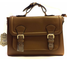 Aktovka Classic Nude Tan  Buckle Detail Fashion Satchel