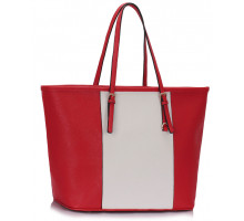 Kabelka Red / White Women's Large Tote Bag