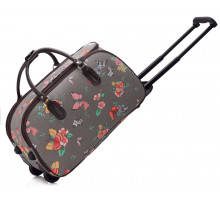 Cestovní taška na kolečkách LS Fashion Grey Butterfly Print Travel Luggage With Wheels (28 l)