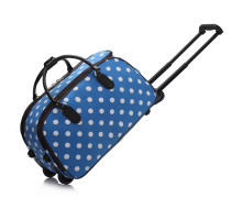 Kufr Blue Light Travel Holdall Trolley Luggage With Wheels - modrý