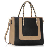 Kabelka Black / Nude Women's Fashion Tote Bag