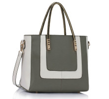 Kabelka Grey / White Women's Fashion Tote Bag