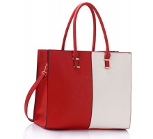 Kabelka Large Red / White Fashion Tote Handbag