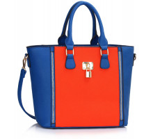 Kabelka Blue/Orange Padlock Tote
