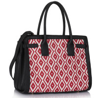Kabelka Black / Red Grab Tote Handbag