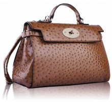 Kabelka Tan Tote Bag In Mock Croc