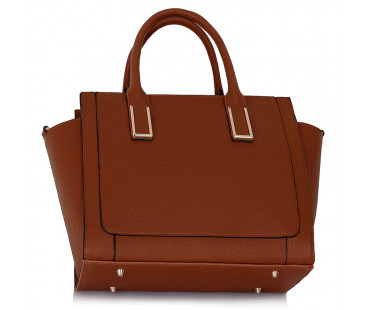 Kabelka Brown Tote Bag With Long Strap