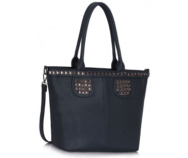 Kabelka Navy Studded Shoulder Handbag