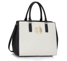 Kabelka L&S Fashion Black / White Tote Handbag