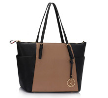 Kabelka Black / Nude Women's Large Tote Bag