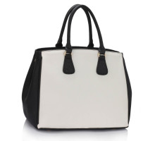 Kabelka Top Zip Black / White Tote Handbag