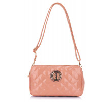 Kabelka Nude Quilted Shoulder Bag with Metal Flower Decoration