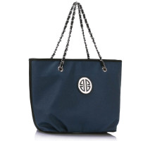 Kabelka Navy Shoulder Bag With Chain Strap