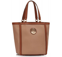 Kabelka Nude Fashion Tote With Metal Accessories