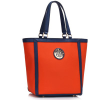 Kabelka Orange Fashion Tote With Metal Accessories