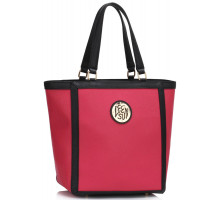 Kabelka Pink Fashion Tote With Metal Accessories