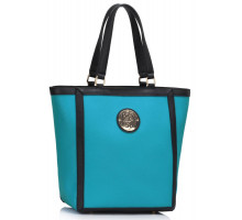 Kabelka Teal Fashion Tote With Metal Accessories