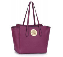 Kabelka Purple Shoulder Bag With Metal Detail