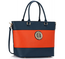 Kabelka Blue / Orange Shoulder Handbag
