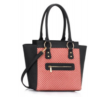 L&S Fashion kabelka Black / Pink Fashion Tote Bag