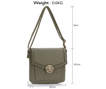 Kabelka Grey Shoulder Cross Body Bag
