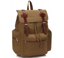 Batoh Khaki Backpack Rucksack School Bag