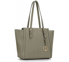 Kabelka L&S Fashion Grey Women's Large Tote Bag