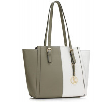 Kabelka Grey / White Women's Large Tote Bag