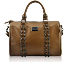 Kabelka Nude Stunning  Skull Studded Barrel Bag With Long Strap