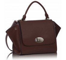 Kabelka- Brown Flap Satchel
