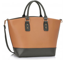 Kabelka L&S Fashion Grey / Nude Fashion Tote